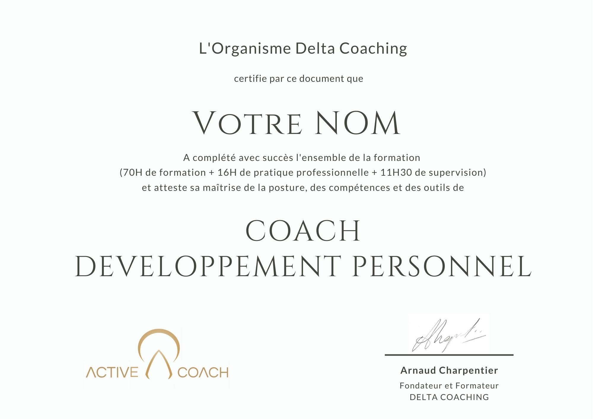 Supervision de coach Arnaud Charpentier Delta Coaching